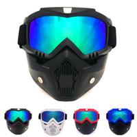 capacete cross country venda por atacado-Retro Helmet Goggles Máscara Óculos Cross Country Motocicleta Retro