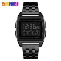 skmei watches mens venda por atacado-SKMEI Relógios Desportivos LED Digital Relógio Eletrônico À Prova D 'Água Mens Relógios Top Marca de Luxo Relógio Masculino Relogio masculino