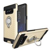 cep telefonu için yüzük toptan satış-3D-Katlanabilir Standı Halka braketi kılıfları TPU + PC uygulayın-Manyetik tutucu Arka Kapak Sam güneş Galaxy Cep Telefonu Smartphone için