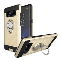 toque para celular venda por atacado-3D-Suporte Dobrável Anel casos de suporte TPU + PC aplicar-para suporte Magnético Capa-de-volta para Para o sol Samsung Galaxy Celular Smartphone telefone móvel