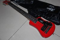 Wholesale New Arrival Travel Electric Guitar Free Bag In Red