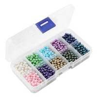 flag boxes wholesale 2018 - 10 Colors 1000pcs Box Plastic Imitation Pearls Beads DIY Making Jewelry Beads For