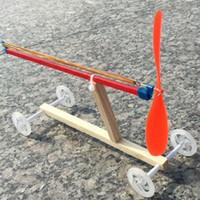 jouets en caoutchouc achat en gros de-Enfants Enfants Jouets Bricolage Voitures En Bois Rubber Band Power Science Puzzles Modèles ensemble livraison gratuite
