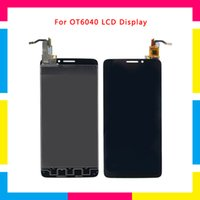 alcatel un toque x al por mayor-Pantalla de visualización 5pcs LCD con la asamblea del digitizador de la pantalla táctil para el reemplazo de Alcatel One Touch Idol X OT6040 6040 6040D