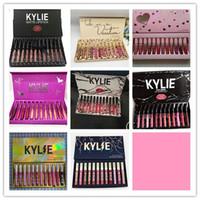 Wholesale pink lips for sale - kylie Lipgloss fall pink brithday take me on kyshadow storm colors Matte Liquid Lipsticks Cosmetics Lipgloss Lip Gloss Set