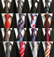 Wholesale men champagne tie resale online - 260 Styles cm Men Ties Silk Tie Mens Neck Ties Handmade Wedding Party Paisley Necktie British Style Business Ties Stripes