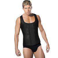 Wholesale latex clothes men - Mens Bodysuit Underwear Latex Leather Patchwork Body Shaperwear men's trainers Hot body girdles Clothing