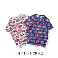 saf pamuk gömlek erkek toptan satış-Erkekler sokak hip hop, saf pamuk, yarım kollu ceket ile kısa kollu yuvarlak yakalı ve gevşek T-shirt çiftler
