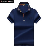 Wholesale hit clothing for sale - Designer Men S Polo Shirt Fashion Hit Color Lattice Collar Casual Pure Color Paul Shirt Brand Polo Shirt Men S Clothing