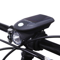 taschenlampe angetriebenes fahrrad großhandel-USB aufladbare Solarenergie Fahrrad Front Kopf Taschenlampe Mountainbike Solarbetriebene Frontleuchte Fahrrad Licht für Radfahren