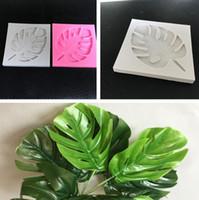 ingrosso foglia di muffa del silicone 3d-Stampi per foglie d'albero 3D Sugarcraft Leavf stampo in silicone fondente strumenti per decorare la torta Foglie di cioccolato gumpaste stampo