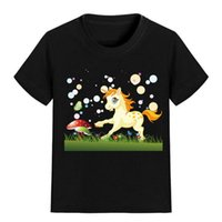 Wholesale animal galloping for sale - NEW ARRIVAL Children Cartoon T Shirt gallop Unicorn Printed Boy Kid Clothes Short Sleeve Girl Tee Shirt Kid Summer U2367