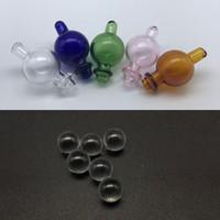 ingrosso fori a sfera-Berretto di vetro Bubble Carb con foro direzionale 2pcs 6mm Quartz Dab Terp perle palline per il quarzo Banger termico Nails Bong di vetro Dab Rigs