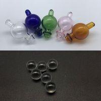 bolas de gafas al por mayor-Burbuja de vidrio Carb Cap con agujero direccional 2pcs 6 mm Dab Terp Bolas de perlas para cuarzo térmico Banger Nails Glass Bongs Dab Rigs