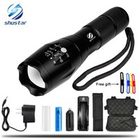 Wholesale ultrafire flashlight torch online - T6 Lumens model High Power LED Torches Zoomable Tactical LED Flashlights torch light for xAAA or x18650 battery