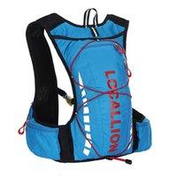mochila de chaleco al por mayor-10L Mochila de hidratación profesional Mochila de bicicleta para hombres Road Packsack mochila chaleco bolsa paquete de hidratación bolsas de hombro de las mujeres 508