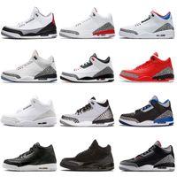 tasarımcı erkek şapkası toptan satış-Erkekler Basketbol Ayakkabı Siyah Beyaz Çimento Ücretsiz Atmak Hattı JTH NRG Tinker Hartfield Katrina mens Spor Gerçek Mavi Eğitmenler III Sneakers tasarımcısı
