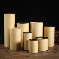 Wholesale beverage tube resale online - Kraft Paper Packing Tank Custom Made Food Eco Friendly Scented Tea White Teas Coffee Paper Tube Storage Jars qa5 gg