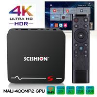 caja de tv android control de voz al por mayor-Set-top box de Android Rockchip RK3229 Android 8.1 TV Boxes con búsqueda por voz Control remoto 2GB 16GB 4K Ultra Smart TV Media Player