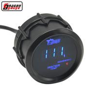 medidor de temperatura led venda por atacado-Medidor de dragão 52mm Preto Shell Azul Digital LED backLight Car Moter Medidor de temperatura da Água temporizador Da Água temp auto