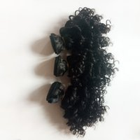 precio cabello virgen chino al por mayor-Pelo virginal brasileño sexy 8-12 pulgadas Kinky Extensión del cabello rizado precio al por mayor Indio remy Cabello humano doble trama Fabricantes chinos