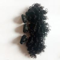 extensiones de cabello chino precios al por mayor-sexy brasileño de la Virgen del pelo rizado rizado 8-12inch la extensión del pelo precio al por mayor remy india del pelo humano trama doble fabricantes chinos
