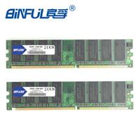 desktop ddr al por mayor-Ddr Intel Binful Nueva marca original DDR PC-32002 (2x1GB) 400 mhz para memoria RAM de escritorio 184pin Garantía de por vida totalmente compatible