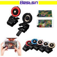 Wholesale Cellphone Hand - New Generation Mini Mobile Game Joystick Physical Touch Function Tight Fit Game Controller For Cellphone Prevent Falling Hand Wet Free DHL