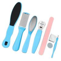 fußpflege kits großhandel-8 Teile / satz Fußpflege Datei Set Dead Hard Haut Callus Remover Scraper Pediküre Raspel Werkzeuge Maniküre Fußpflege Tool Kit
