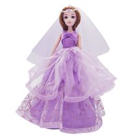 Wholesale Wedding Dresses Wholesale Prices - Baby Doll Pretty Party Wedding Dress Princess Dolls for Baby Girl Kids Birthday Gift Special Price Fashion Doll