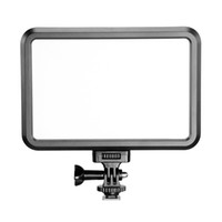 heiße schuhe dslr großhandel-PT-12B Fotografie LED Video Licht Fill-in Light Panel 3200-5600K mit Blitzschuh Adapter für Canon Nikon Olympus DSLR Kamera