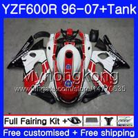 Wholesale fairing thundercat 97 resale online - Body Stock red white Tank For YAMAHA Thundercat YZF600R HM YZF R YZF R Fairing