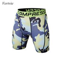 plus size camouflage shorts großhandel-Vertvie Fitness Herren Laufshorts Camouflage Printed Quick Dry Crossfit Kompression Kurze Hosen Sport Sportswear Plus Größen