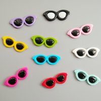 Wholesale new sunglasses china resale online - 200pcs Mixed Resin Sunglasses Cabochons Flatback Cabochon Craft Embellishment DIY for Phone Decor Home Party Decorations mm mm