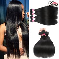 Wholesale Nature Weave - Peruvian Virgin Straight Hair Extensions Brazilian Straight Hair 3 4 Bundles Deals Nature Color 100% Unprocessed Straight Human Hair Weaves