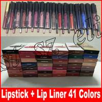 labio al por mayor-LIP KIT Lipkit Liquid Matte Lipstick delineador de labios Maquillaje Lip Gloss lipliner 41 colores de maquillaje