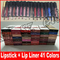 Wholesale lip online - LIP KIT Lipkit Liquid Matte Lipstick lip liner Makeup Lip Gloss lipliner colors makeup