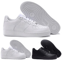 pretty nice c55ef 9f18b 2018 Nike air force 1 one af 1 af1 New Dunk Hommes Femmes Flyline Sports  Skateboard Chaussures Haute Faible Cut Blanc Noir En Plein Air Trainers  Sneakers ...