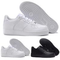 zapatillas deportivas de hombre negro al por mayor-Nike air force 1 shoes with box Zapatos de skate deporte nuevos 2018 Dunk Flyline de mujer hombre Zapatillas de deporte exterior corte alto bajo negras blancas Tallas 36-45