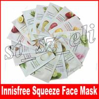 feuilles de masque achat en gros de-Innisfree Squeeze Mask Sheet Soin hydratant pour le visage pour la peau Peelings pour masques faciaux anti-huile Types de mélanges de soins de la peau