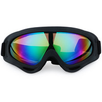 Wholesale men snowboard goggles - Motorcycle Bike ATV Motocross UVProtection Ski Snowboard Off-road Goggles FITS OVER RX GLASSES Eyewear Lens Free shipping.