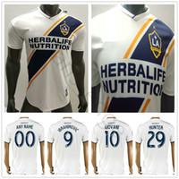 Wholesale galaxy custom - Player Version Los Angeles Galaxy Soccer Jersey 9 IBRAHIMOVIC COLE KEANE GERRARD GIOVANI DONOVAN KAMARA HUNTER Custom 18 19 Football Shirt