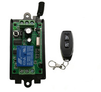 funkfernbedienung schalter empfänger großhandel-DC 9 V 12 V 24 V 1 CH 1 CH RF Wireless Remote Control Switch System Empfänger + Metall Remote Garagentore / Fenster / Lampe / Fensterläden