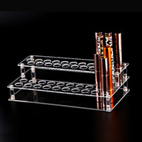 acryl-rackhalter großhandel-Transparent Klar Acryl 37-Loch Lippenstift Lipgloss Nagellack Kosmetik Makeup Organizer Box Fall Display Halter Rack Ständer