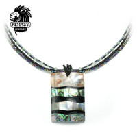 Wholesale Necklace Pearl Big Shell - whole saleFENASY fashion bohemian copper alloy personality big size Geometric pearl shell Multilayer Necklace&punk Pendants For Women
