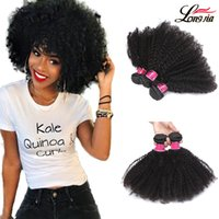 Wholesale kinky hair weave styles - new style Virgin brazilian Afro curly hair weft human hair extensions 100% unprocessed natural black color afro kinky curl Free Shipping