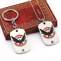 ketten hundetags großhandel-Die Abteilung Schlüsselbund Tom Clancy Hundemarke Metall Schlüsselbund Schlüsselbund Für Fans Chaveiro Auto Schlüsselanhänger Schmuck
