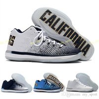 Wholesale george pig plush for sale - Group buy 2018 New Arrival XXXI Low California Michigan George s Basketball Shoes for Top Quality New Training Sports Sneakers Size