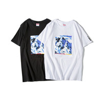 Wholesale Snow White Top - Summer New Snow Moutain Printing Mens Tee Short Sleeve Super High Quality Casual T-shirt Men Fashion Brand Tops