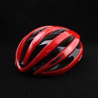 bisiklet kask led ışık toptan satış-LED Işıkları Kask Entegral kalıplı Bisiklet Kask Açık Spor Yol Dağ MTB Bisiklet LED Uyarı Işıkları Ile